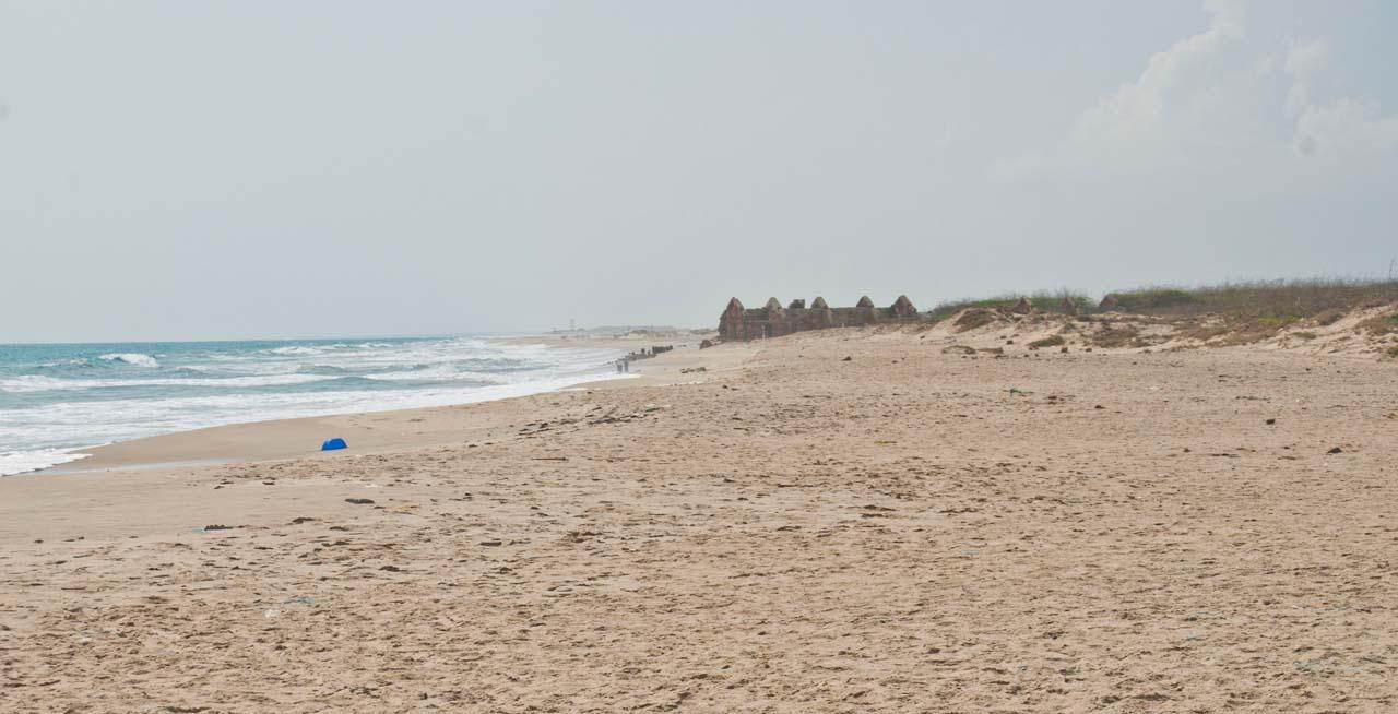 Dhanushkodi beach near village