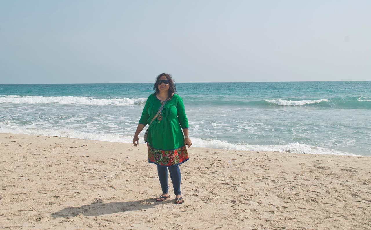 Dhanushkodi beach near ruins