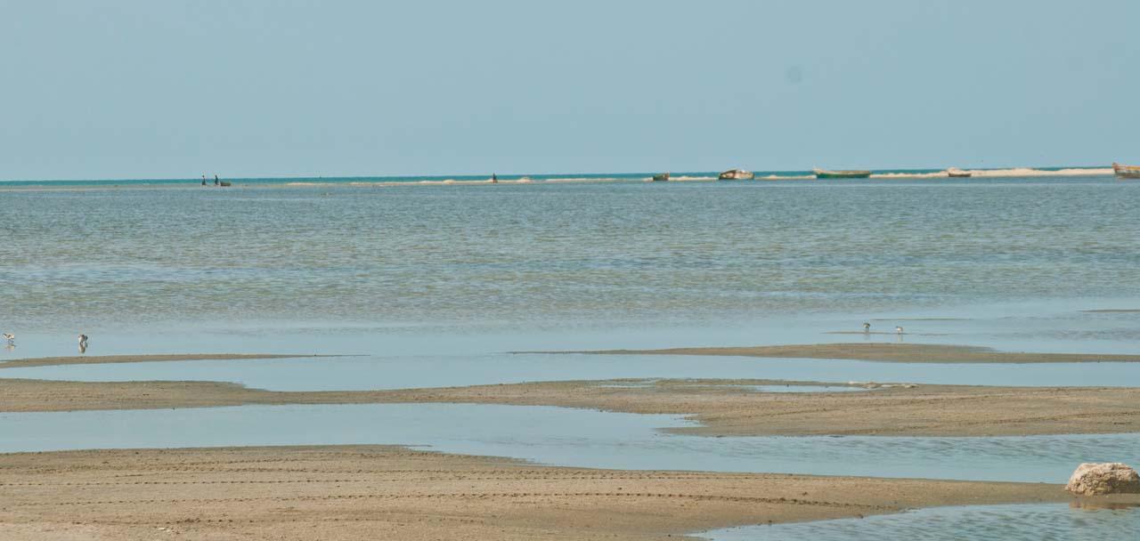 Dhanushkodi sea during low tide