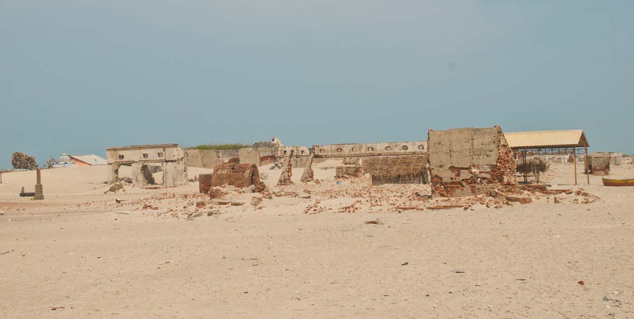 Ruins in Dhanushkodi