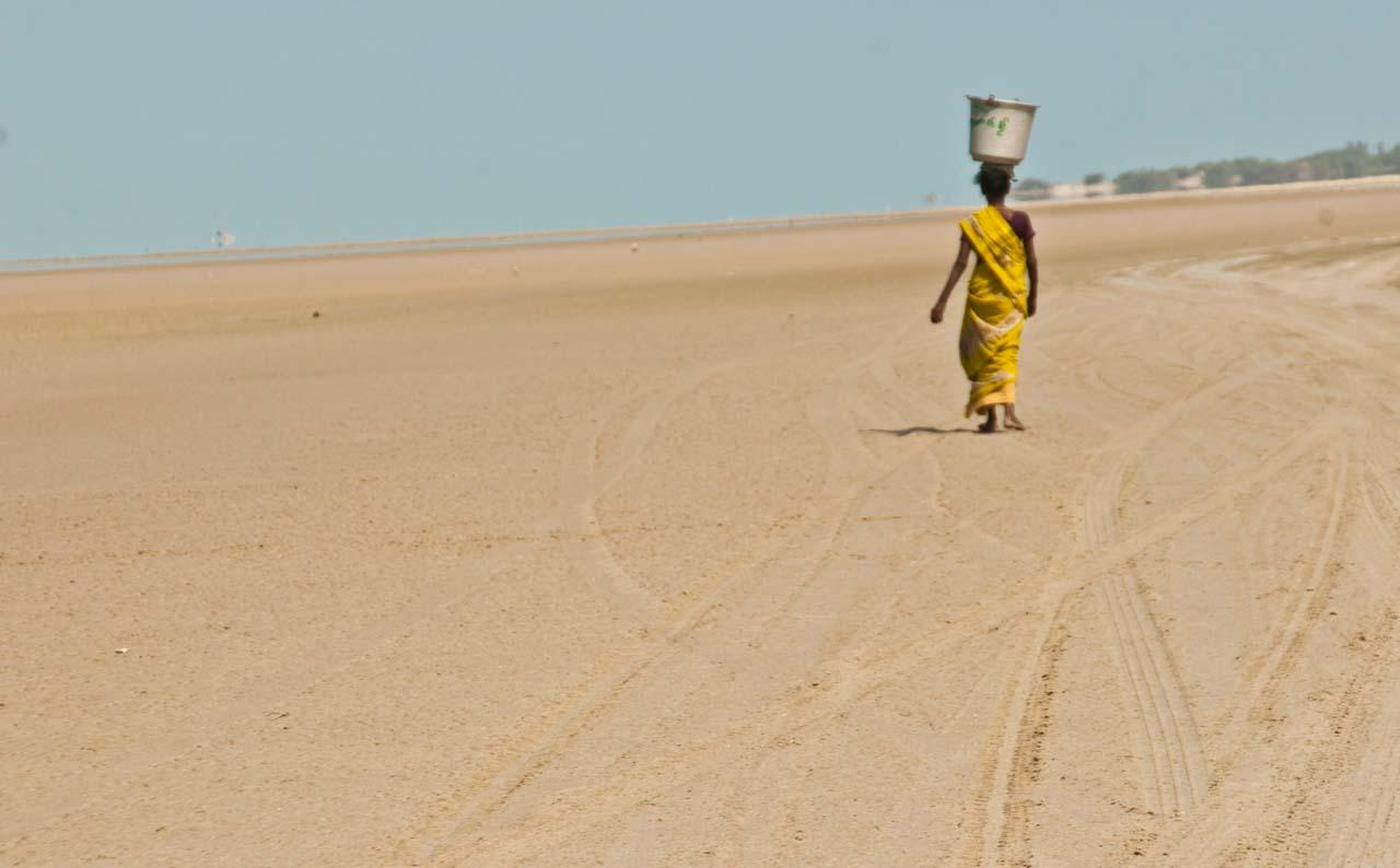 Woman in Dhanushkodi