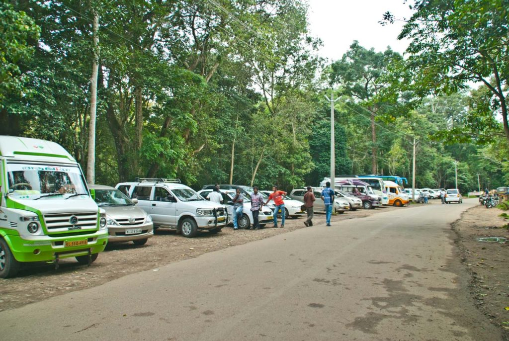 Periyar tiger reserve parking area