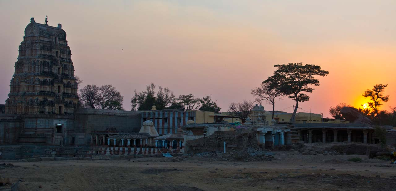 Sunset near River Hampi Village