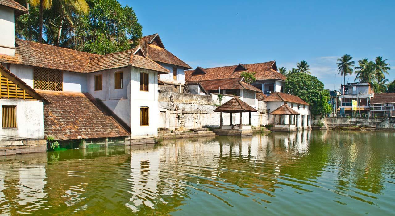 Pond outside Padmanabhaswamy temple