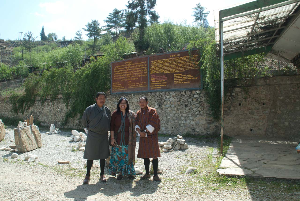 I, my guide and driver in Paro