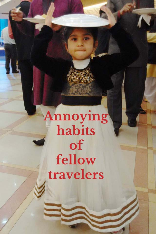 Annoying habits of fellow travelers