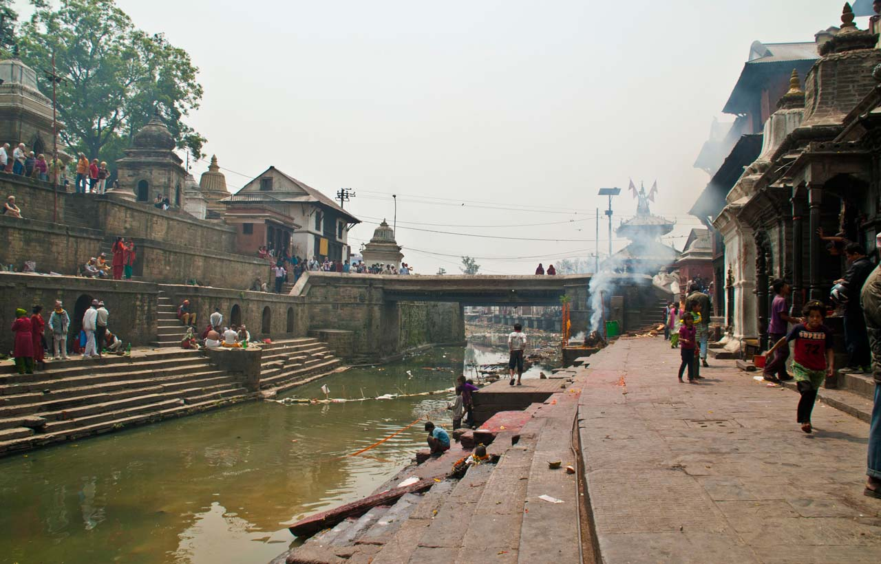 Bagmati river behind Pashupatinath Temple Kathmandu Nepal