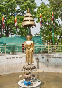 Buddha of Peace at Swyambhunath Temple stairs