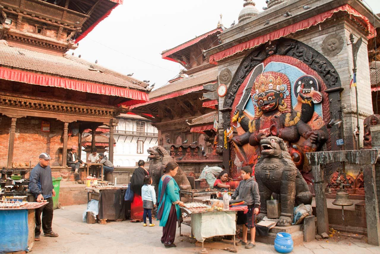 Kal bhairav in Durbar Square Kathmandu Nepal
