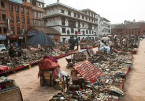 Market in Darbar Square Kathmandu Nepal