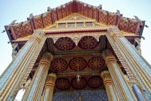 Gate of main temple in Royal Palace Bangkok