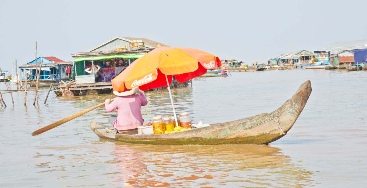 Siem Reap's floating villages lady