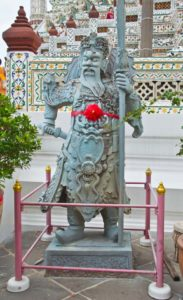 Statue of fighter in Wat Arun Bangkok