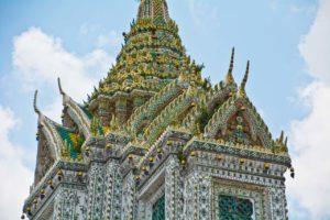 Wat arun temple compound decoration