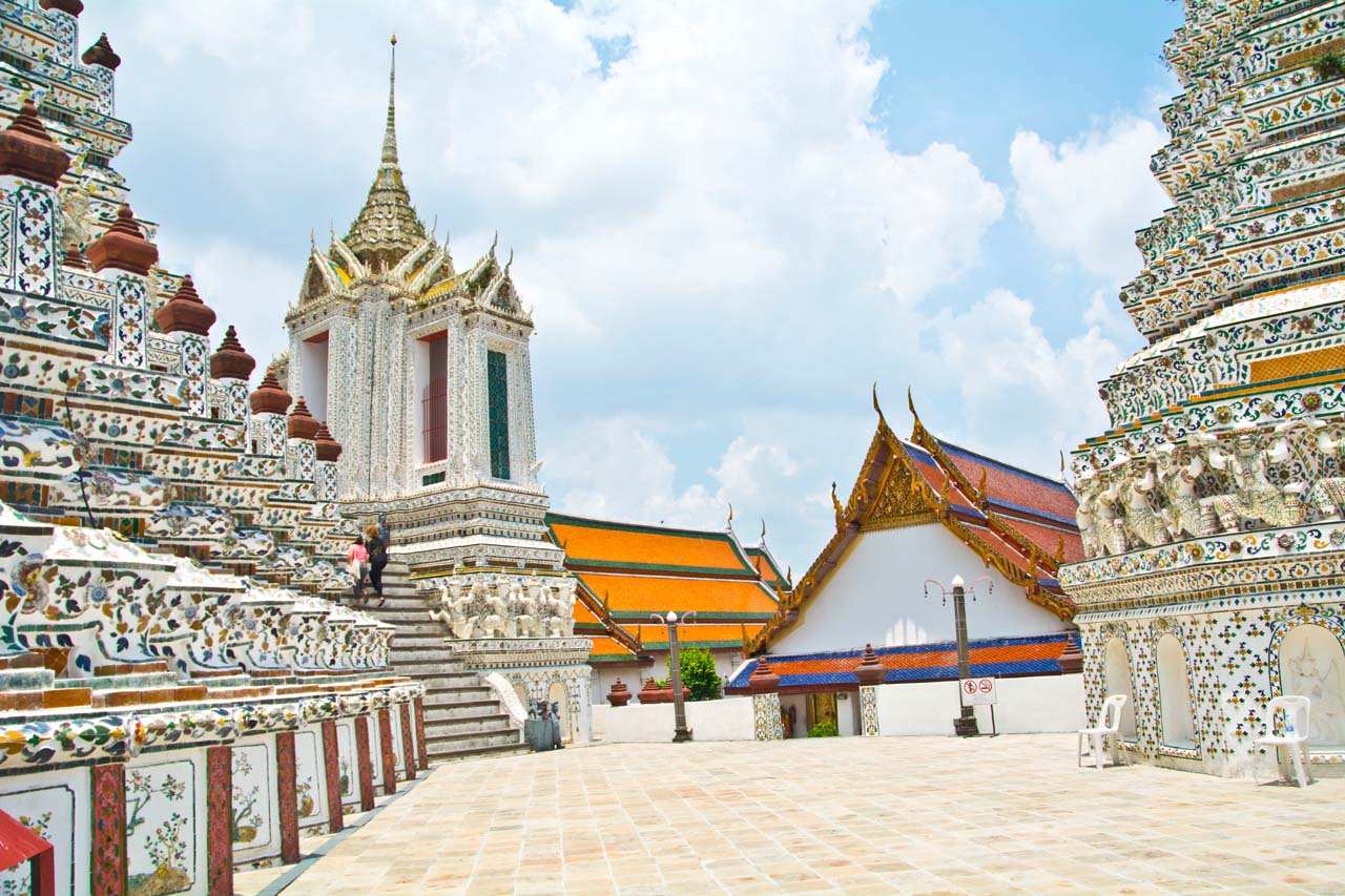 Wat arun temple compound in Bangkok