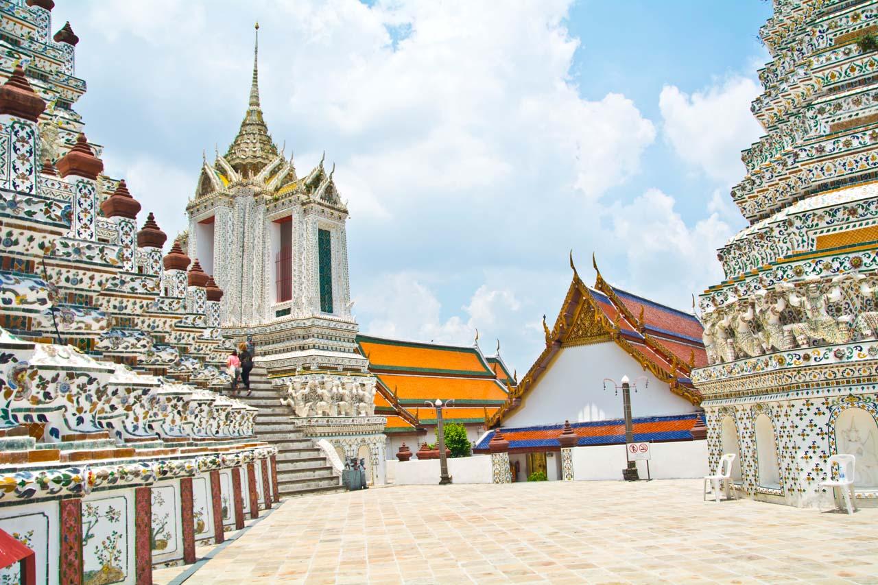 Wat arun temple compound in Bangkok