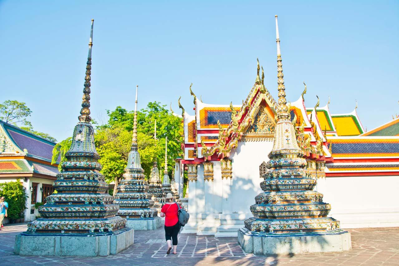 Wat pho compound and stupas