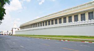 Outer wall of Royal palace bagkok