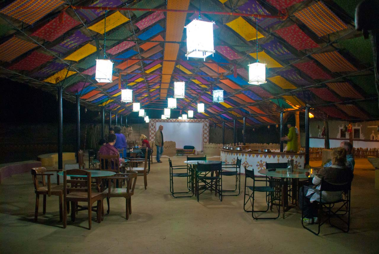 Dinning area Shaam-e-Sarhad Village Resort Kutch Gujarat
