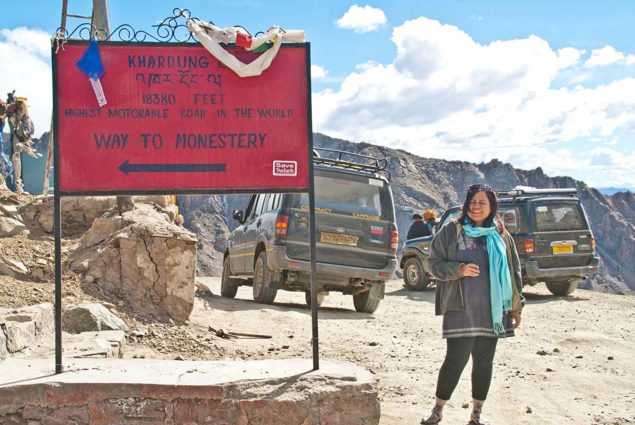 Me at Khardungla pass