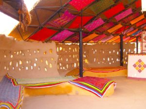 Reception sitting Shaam-e-Sarhad Village Resort Kutch Gujarat