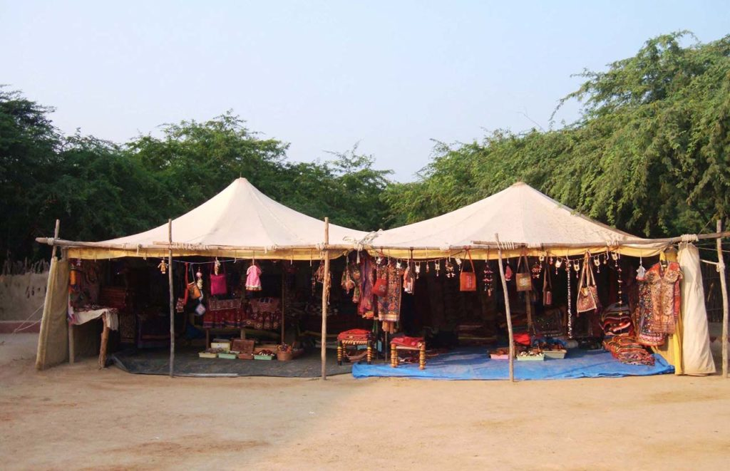 Stalls Shaam-e-Sarhad Village Resort Kutch Gujarat