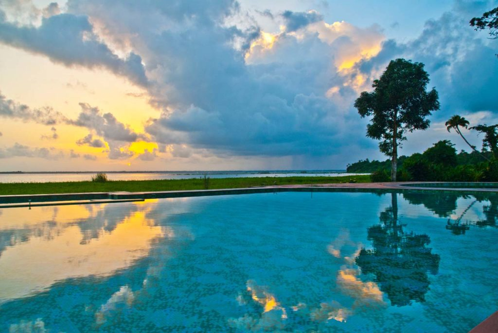 Swimming pool in Waterscapes KTDC Backwater Resort