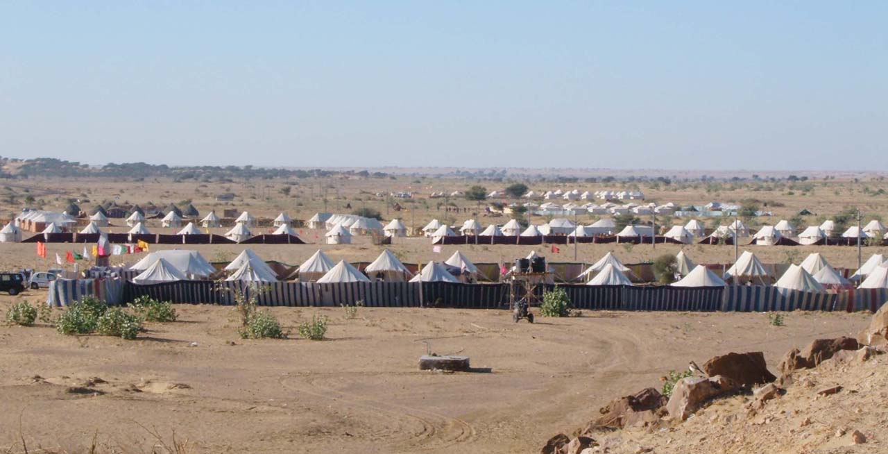 Tents in Sam Sand Dunes Jaisalmer