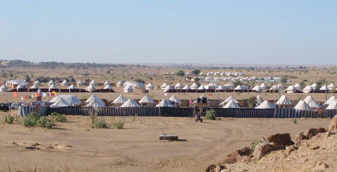 Tents in Sam Sand Dunes Jaisalmer