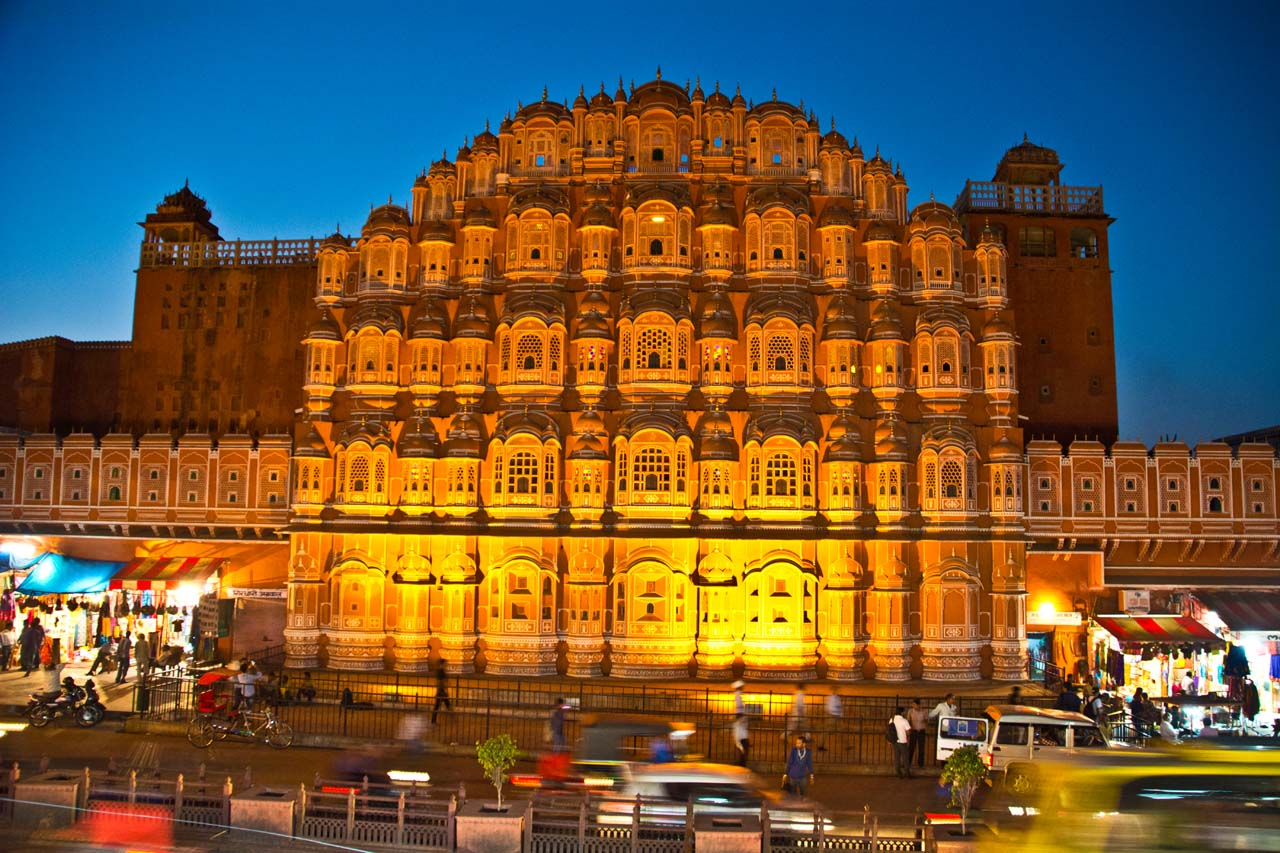 Hawa Mahal Jaipur at night