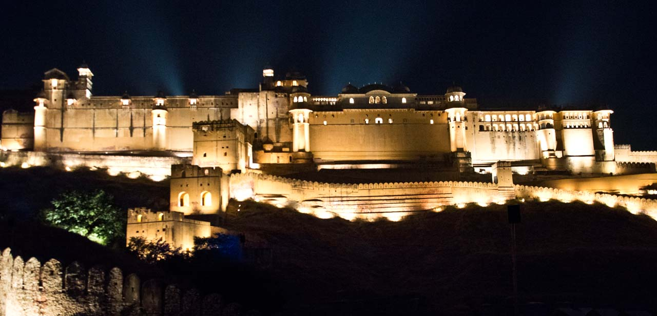 Light and sound show at at Amber fort jaipur