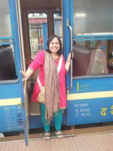 I with Nilgiri mountain railway carriage