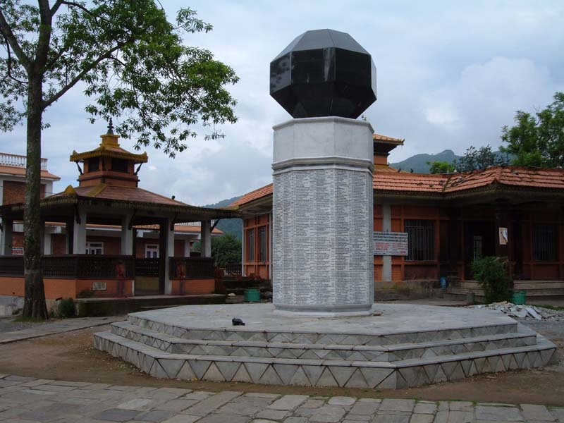 Bindhyabasini temple pillar Pokhara Nepal