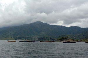 Boats in Phewa Lake Pokara Nepal