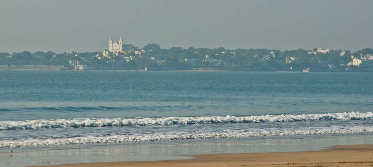 Diu town from Ghogla beach
