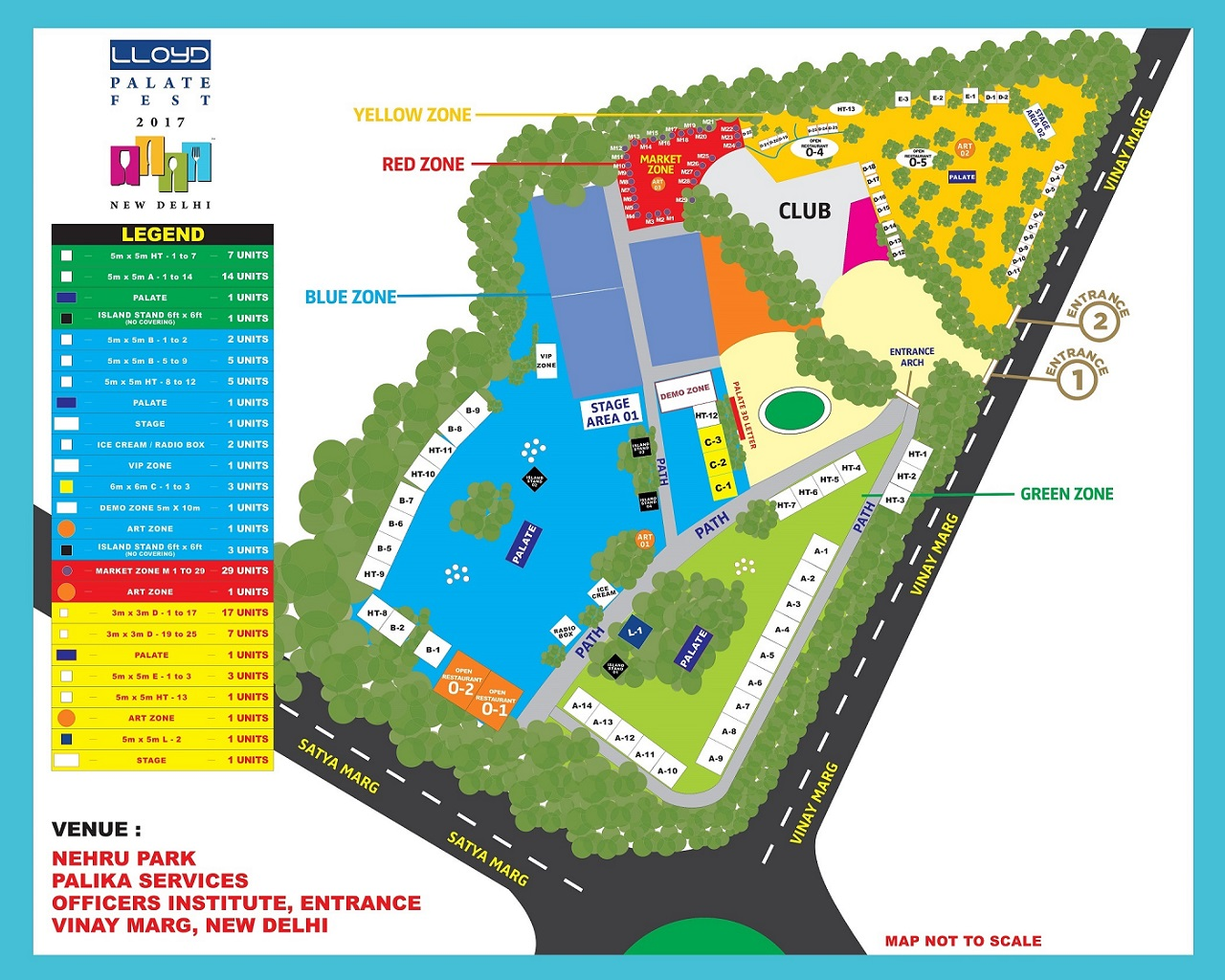 Map of Palate Fest
