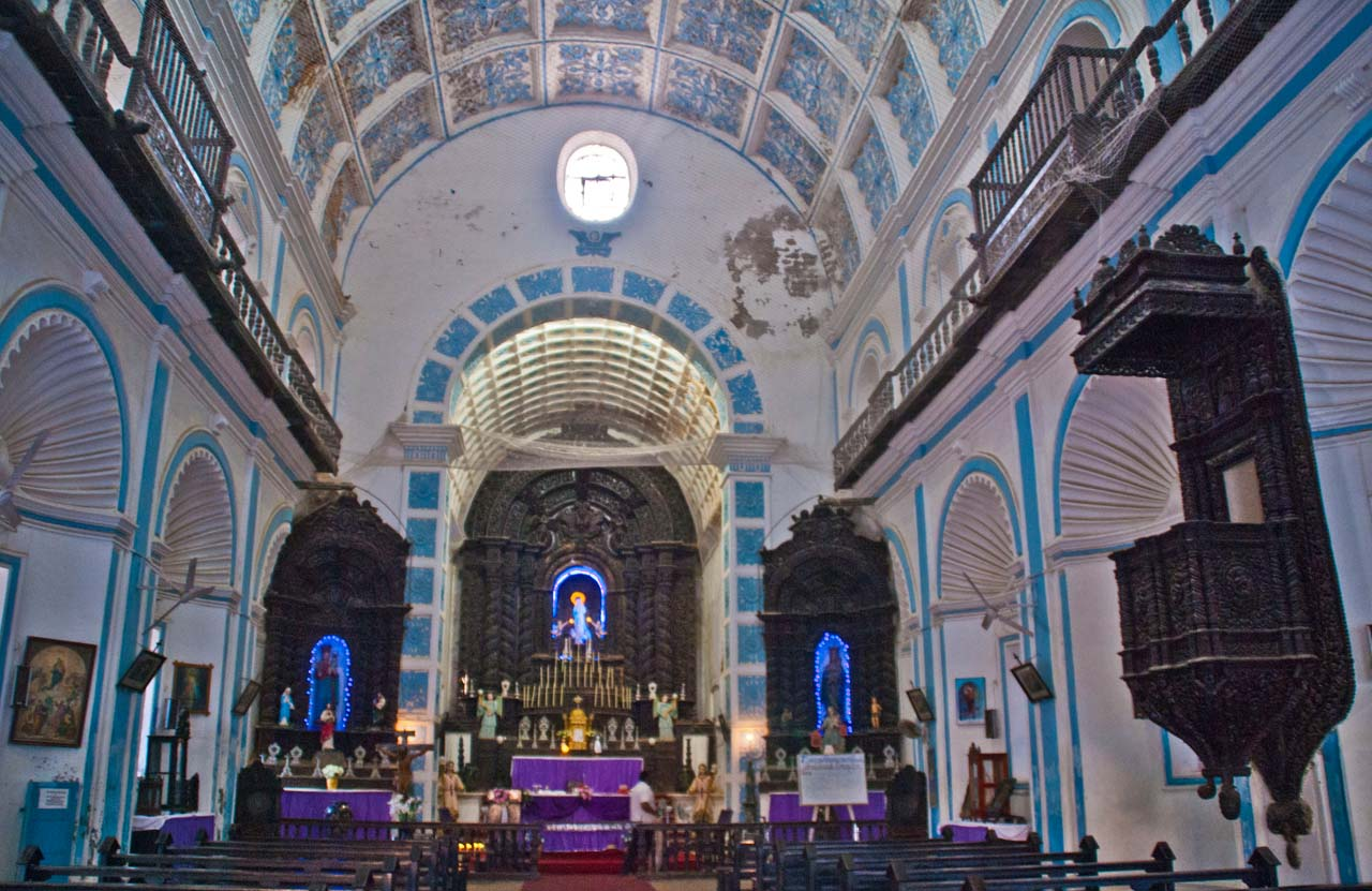 St Paul Church Diu inside
