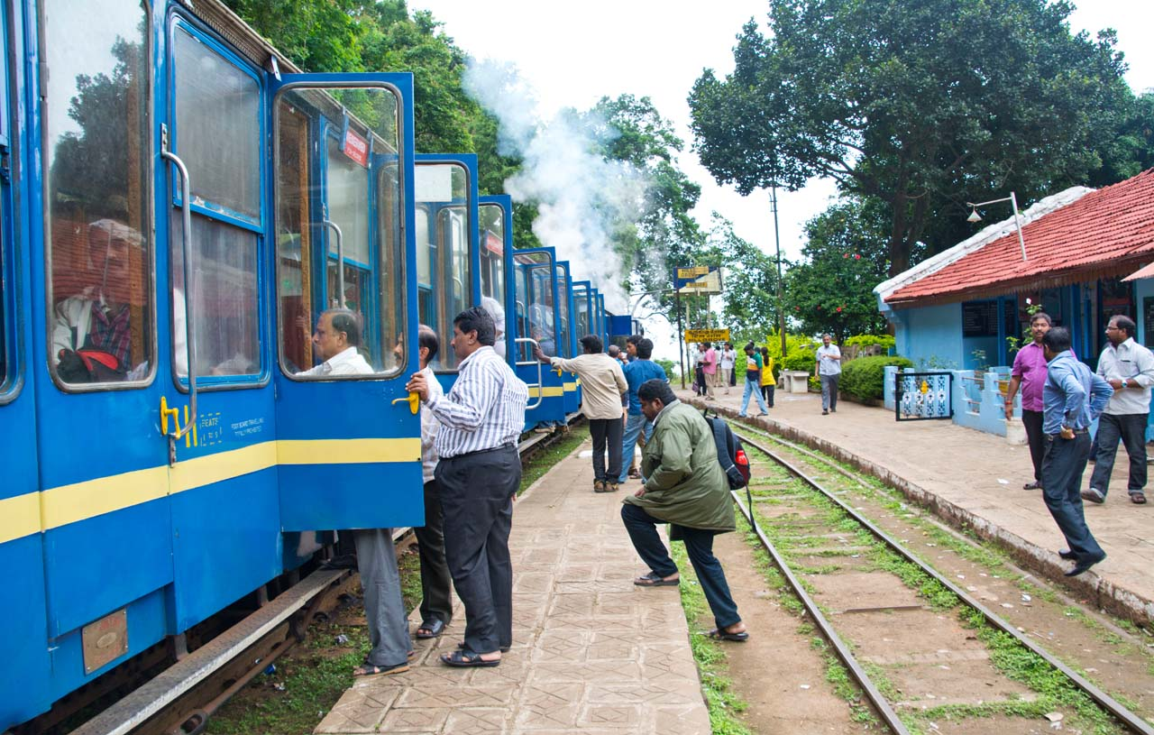 Station on the way from Ooty to Metupalaiyam