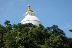 World peace pagoda Pokara Nepal
