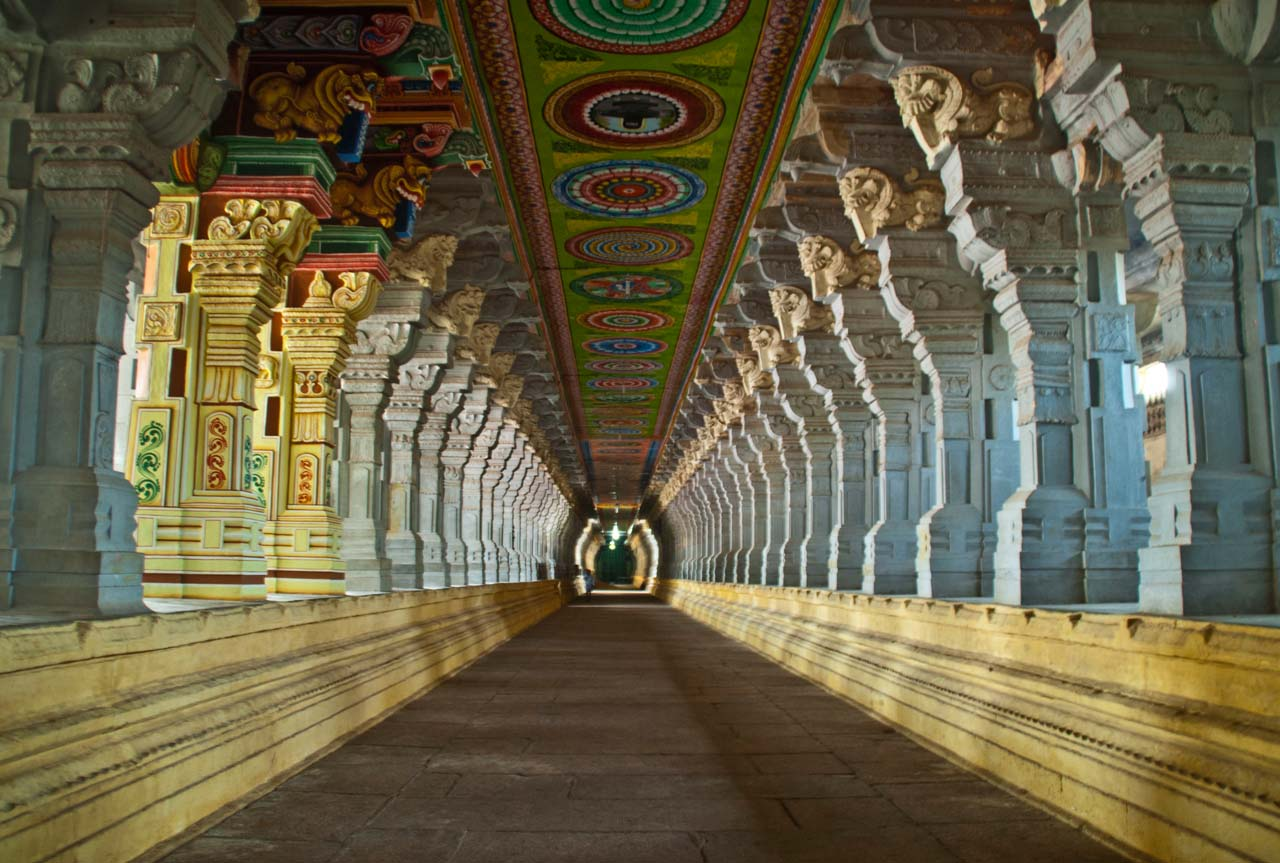 Corridors of Ramanathaswamy temple Rameshwaram
