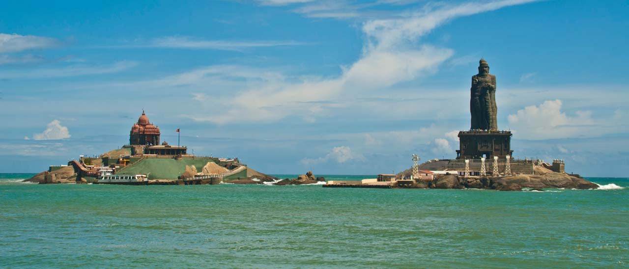 Pictures from India - Kanyakumari Vivekanand rock and Thiruvalluvar Statue