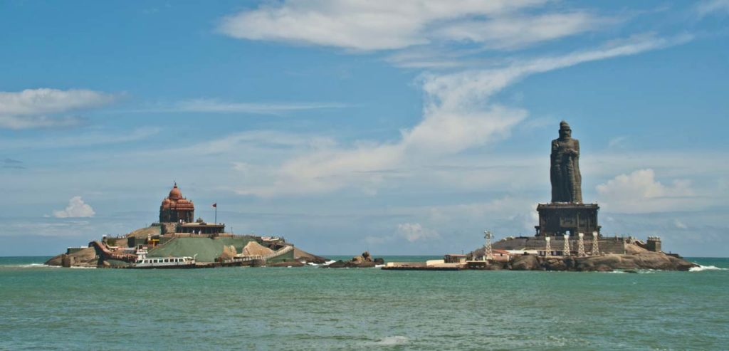 Vivekanand rock and Thiruvalluvar Statue Kanyakumari