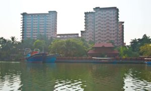 Amritapuri Ashram in the Kerala Backwaters
