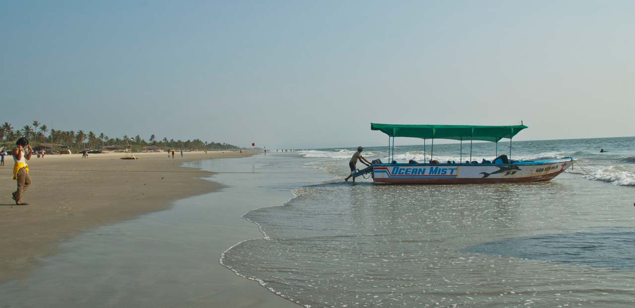 Boat at Colva beach Goa