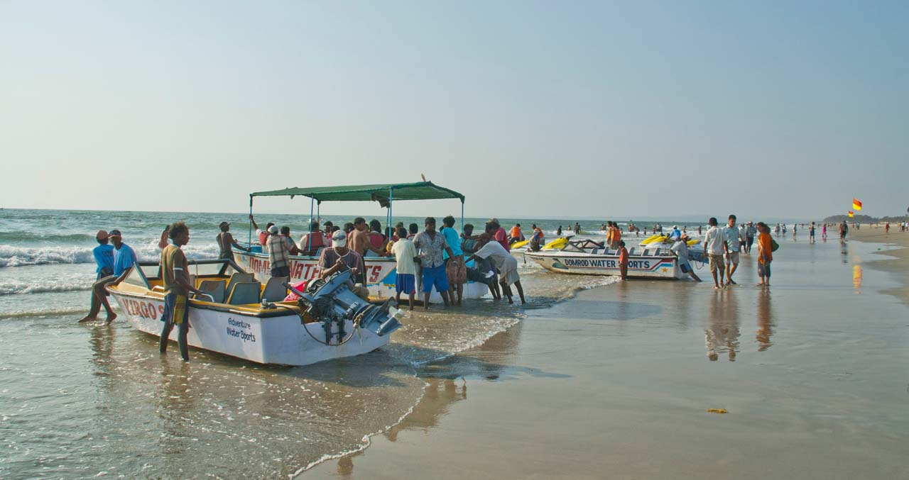 Boats at Colva beach Goa
