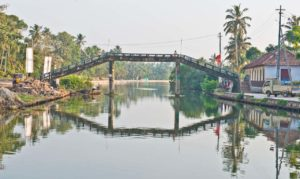 Bridge in the Kerala Backwaters