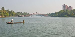 Bridge near Amritapuri in the Kerala Backwaters