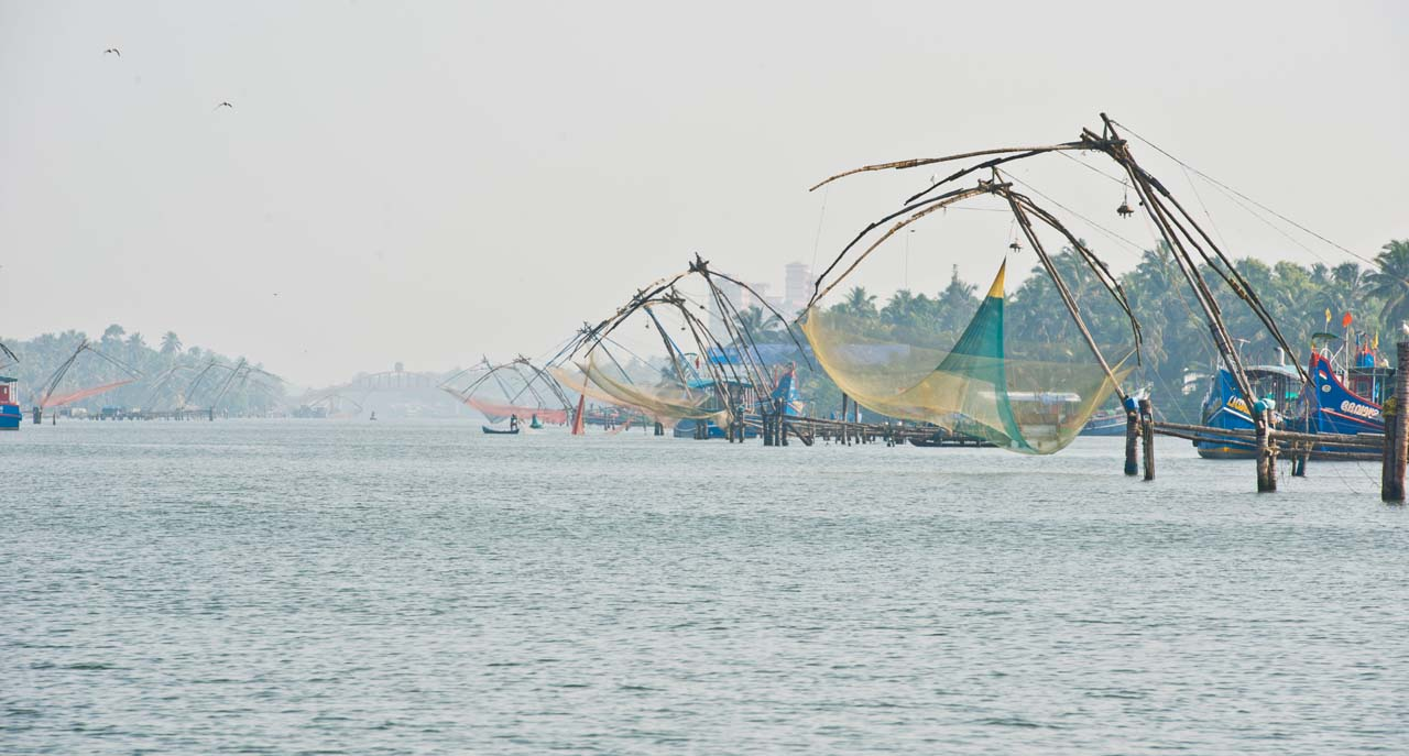 Chinese net in the Kerala Backwaters