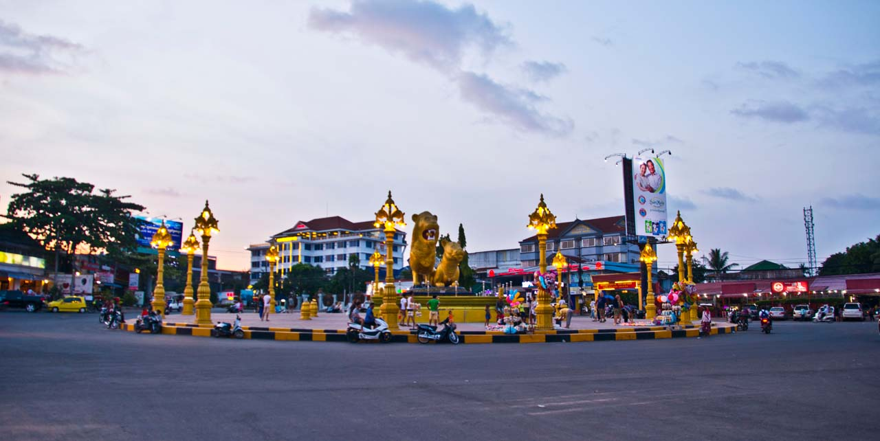 Golden Lion Roundabout Sihanoukville Cambodia