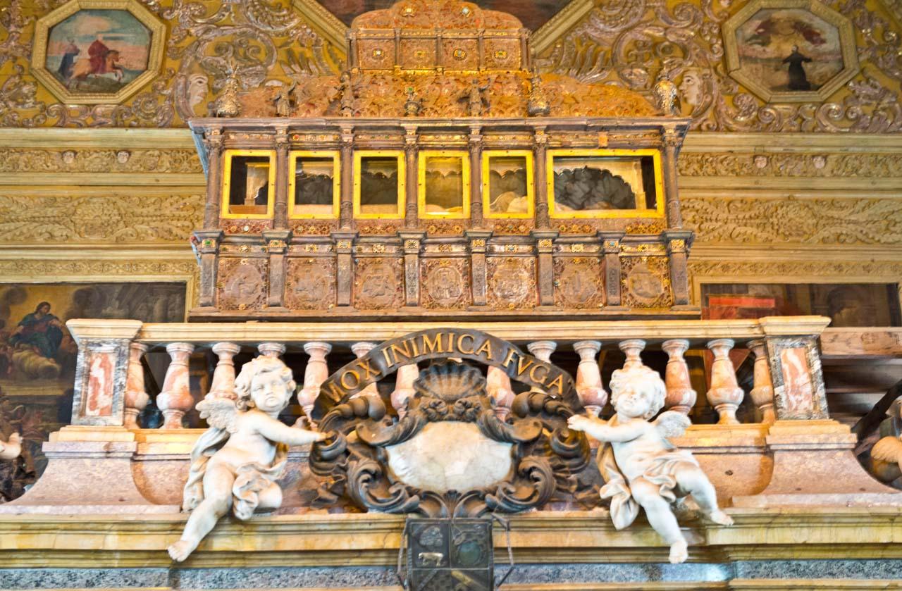 Relics of st Xaviar at Bom Jesus basilica Goa